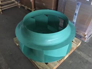 Rotor centrifugalnog ventilatora po uzorku